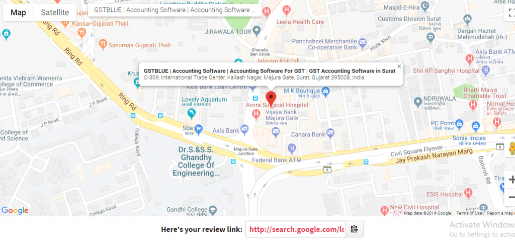 see your business location and name in map