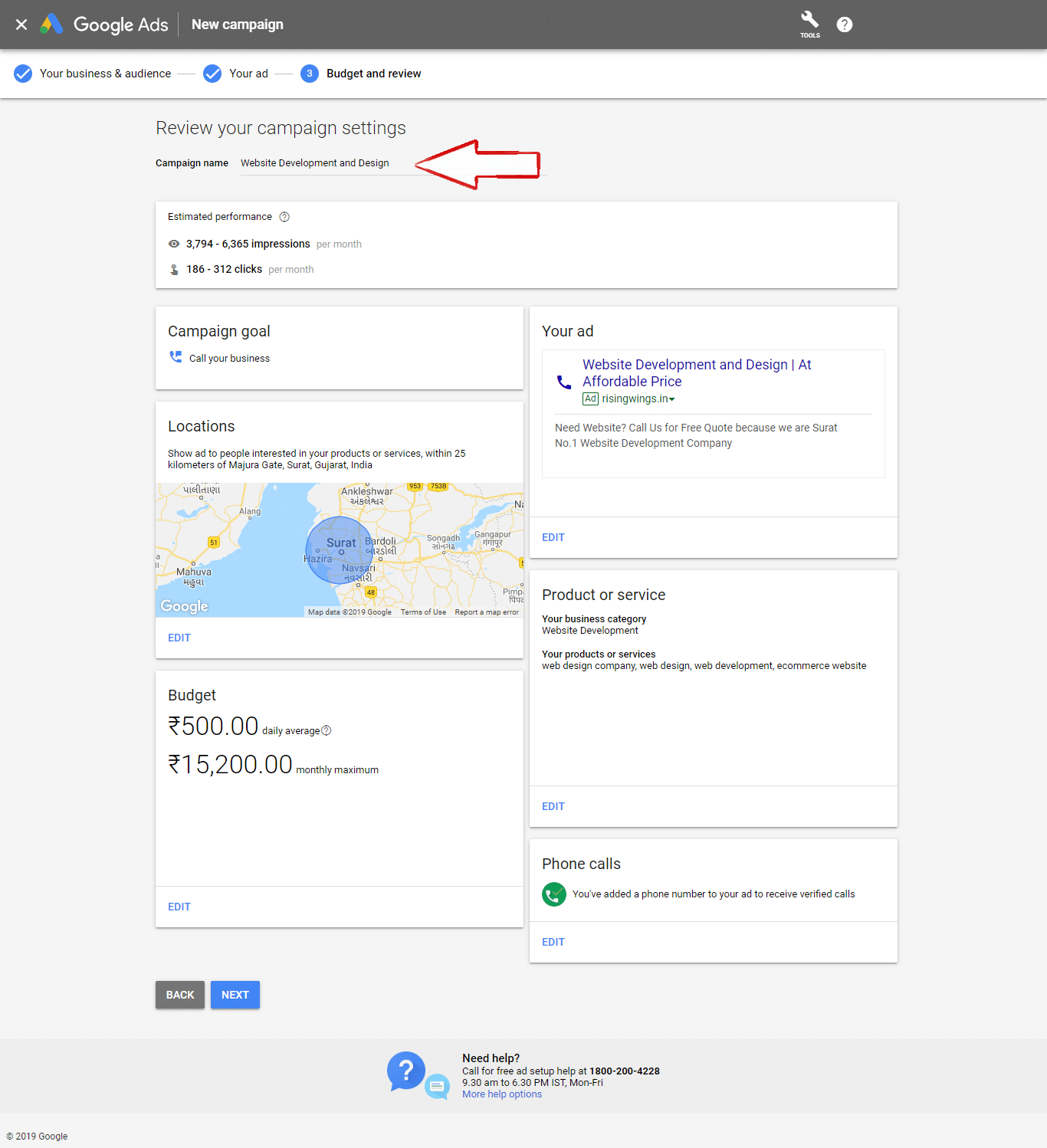 Review google maps business ads Camping