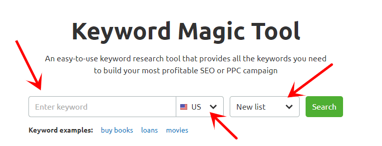 keyword magic tool for keyword research