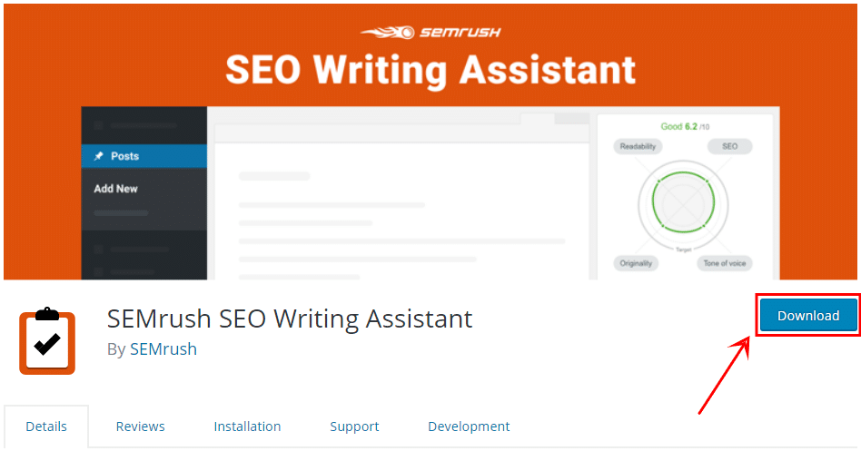 semrush wordpress plugging